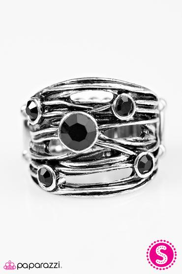 Sparkle Struck - Black Paparazzi Ring - Carolina Bling Boss