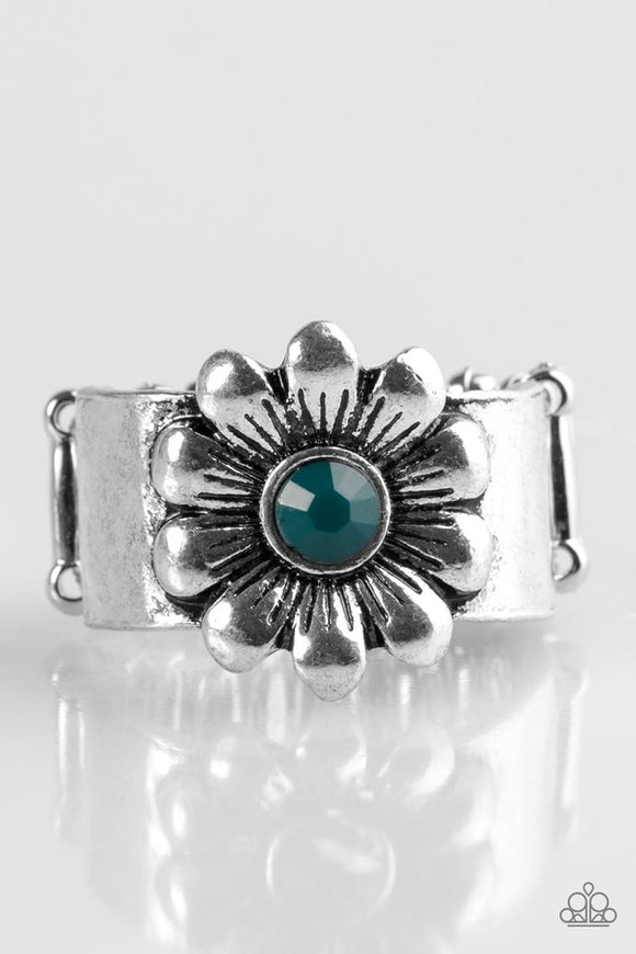Dreamy Fields - Blue Paparazzi Ring - Carolina Bling Boss