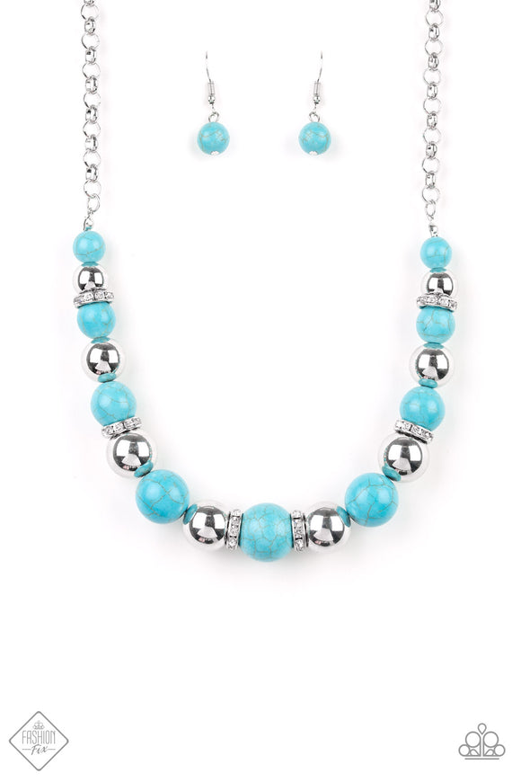 The Ruling Class - Blue Paparazzi Necklace - Carolina Bling Boss