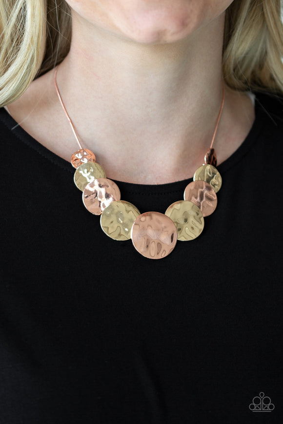 A Daring DISCovery - Copper Paparazzi Necklace - Carolina Bling Boss