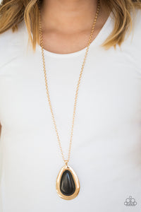 BADLAND To The Bone - Gold Paparazzi Necklace - Carolina Bling Boss