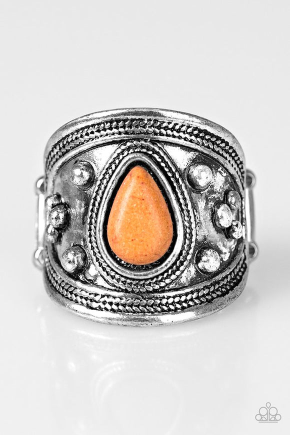 Sonoran Sands - Orange Paparazzi Ring - Carolina Bling Boss