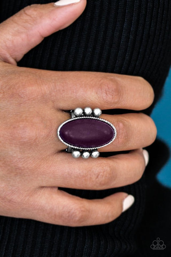 Skipping SANDSTONES - Purple Paparazzi Ring - Carolina Bling Boss