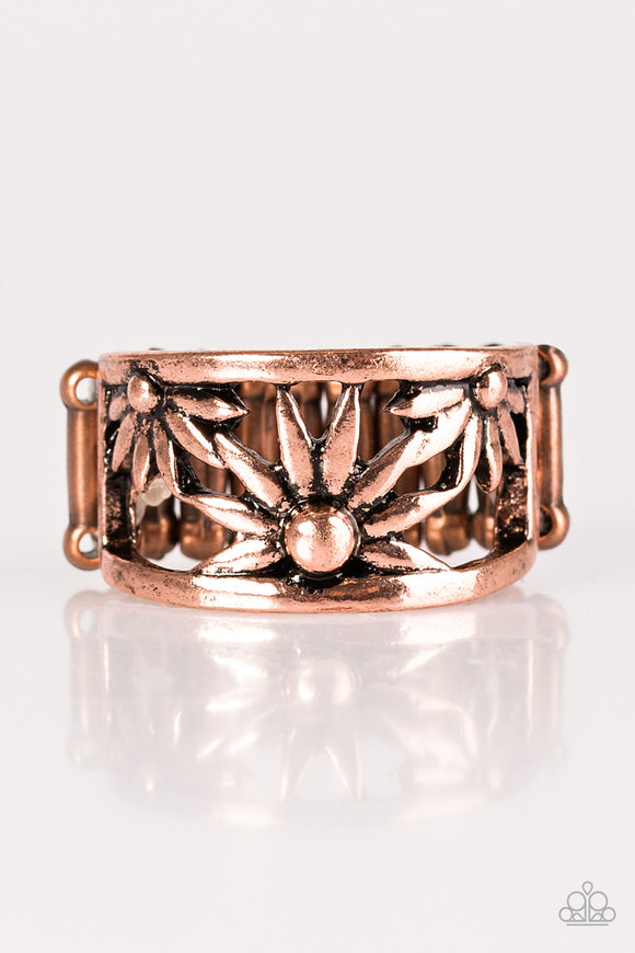 Let A Thousand WILDFLOWERS Bloom - Copper Paparazzi Ring - Carolina Bling Boss