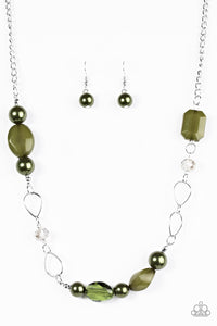 Beam Away - Green Paparazzi Necklace - Carolina Bling Boss