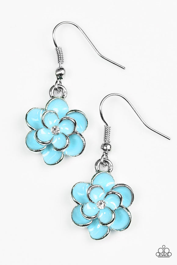 Merry Meadows - Blue Paparazzi Earrings - Carolina Bling Boss
