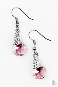 Another Day, Another Chance To Sparkle - Pink Paparazzi Earrings - Carolina Bling Boss