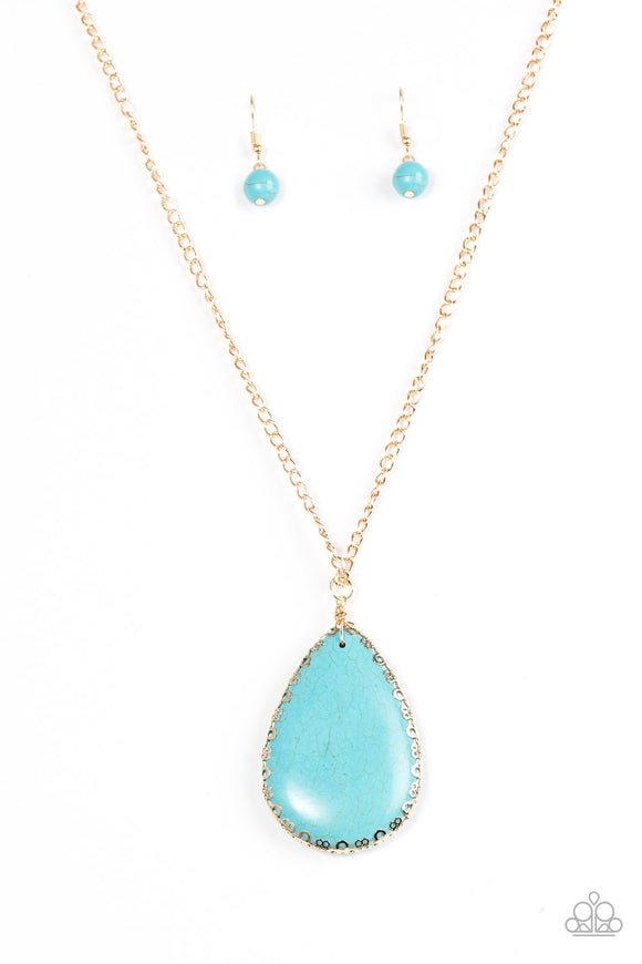 Stone Magnificence - Blue Paparazzi Necklace - Carolina Bling Boss