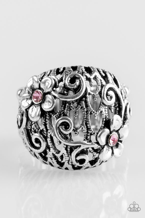 Spring Holiday - Pink Paparazzi Ring - Carolina Bling Boss