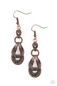 Romantic Radiance - Copper Paparazzi Earrings - Carolina Bling Boss