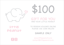 Load image into Gallery viewer, LITTLE PEANUT GIFT VOUCHER ONE HUNDRED