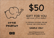 Load image into Gallery viewer, LITTLE PEANUT GIFT VOUCHER FIFTY