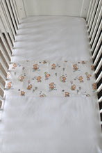 Load image into Gallery viewer, TEDDY COT SPILL PILLOWS & WHITE FITTED SHEET / FLANNELETTE