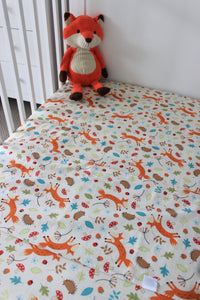WOODLANDS COT SPILL PILLOW & FITTED SHEET / COTTON