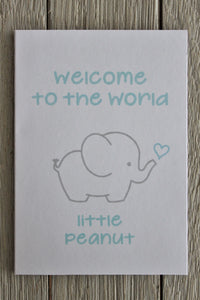 WELCOME TO THE WORLD LITTLE PEANUT GIFT CARD