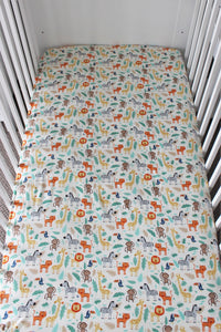 JUNGLE COT SPILL PILLOW & FITTED SHEET / COTTON
