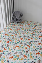 Load image into Gallery viewer, JUNGLE COT SPILL PILLOW & FITTED SHEET / COTTON