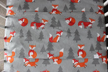 Load image into Gallery viewer, FOX COT SPILL PILLOW & FITTED SHEET / FLANNELETTE