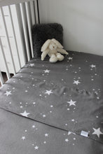 Load image into Gallery viewer, STAR COT SPILL PILLOW & FITTED SHEET / FLANNELETTE