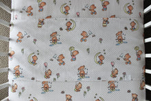 Load image into Gallery viewer, TEDDY COT SPILL PILLOW & FITTED SHEET / FLANNELETTE