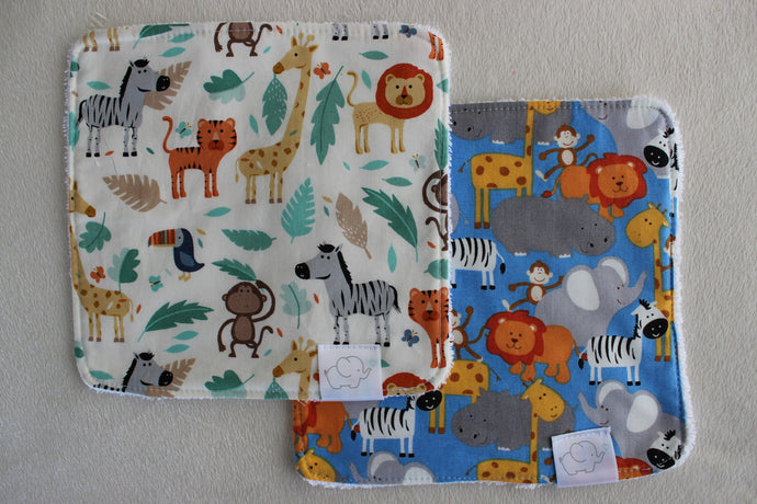 JUNGLE & SAFARI WASH CLOTHS
