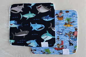 OCEAN & PIRATE WASH CLOTHS