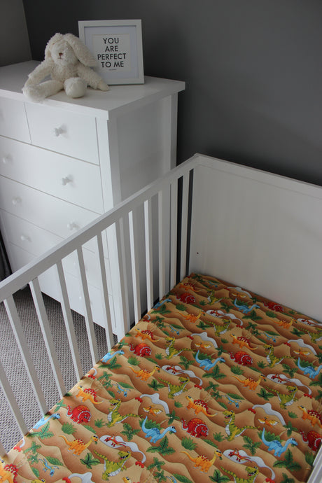 STONEAGE COT FITTED SHEET / COTTON