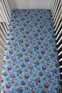 PIRATE COT FITTED SHEET / COTTON