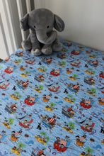 Load image into Gallery viewer, PIRATE COT FITTED SHEET / COTTON