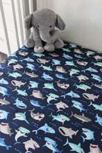 Load image into Gallery viewer, OCEAN COT FITTED SHEET / COTTON
