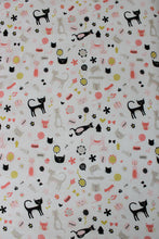 Load image into Gallery viewer, MEOW COT FITTED SHEET / COTTON