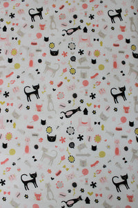 MEOW COT FITTED SHEET / COTTON