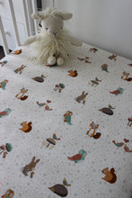 Load image into Gallery viewer, CRITTERS COT FITTED SHEET / COTTON