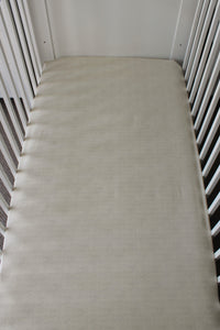CREAM COT FITTED SHEET / COTTON