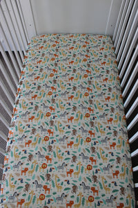JUNGLE COT FITTED SHEET / COTTON