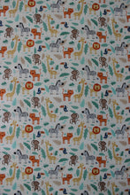 Load image into Gallery viewer, JUNGLE COT FITTED SHEET / COTTON