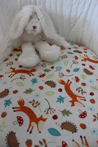 WOODLANDS BASSINET FITTED SHEET / COTTON