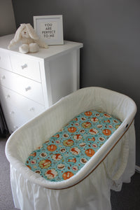MEADOW BASSINET FITTED SHEET / COTTON