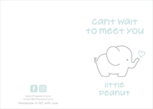 Load image into Gallery viewer, CANT WAIT TO MEET YOU LITTLE PEANUT GIFT CARD