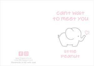 CANT WAIT TO MEET YOU LITTLE PEANUT GIFT CARD