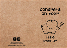 Load image into Gallery viewer, CONGRATS ON YOUR LITTLE PEANUT GIFT CARD