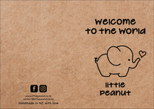 Load image into Gallery viewer, WELCOME TO THE WORLD LITTLE PEANUT GIFT CARD