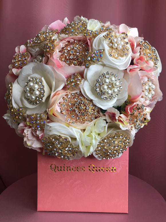 Pink and White Flowers Bouquet