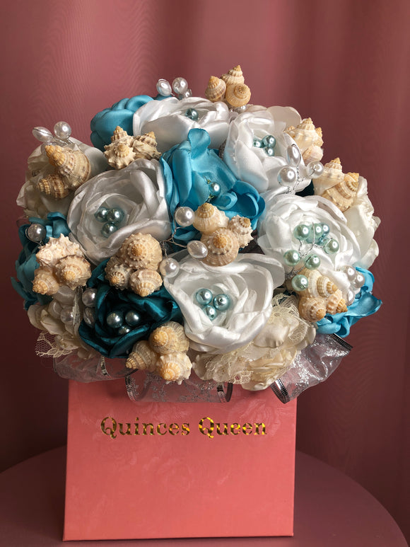 Blue Mermaid w/ Seashells Bouquet