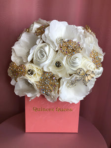 Ivory and White Flowers Bouquet