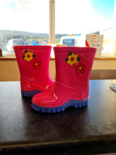 Load image into Gallery viewer, Pink/Lilac Flower Wellingtons