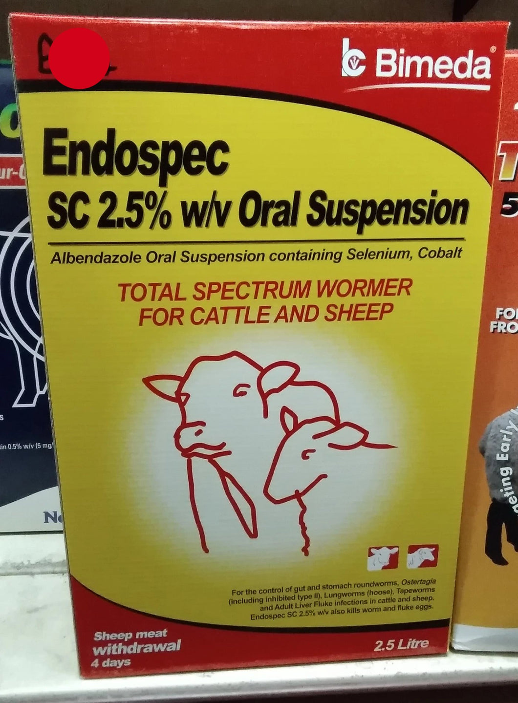 Endospec Total Wormer for Cattle and Sheep - 2.5L