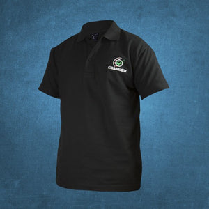 Kids Grassmen Black Polo Shirt