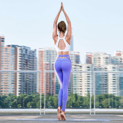 Strappy Wide Waisted Prestige Yoga Pants - Leggings - Look! FAST USA DELIVERY*!