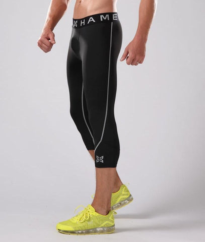 Men's 3/4 Compression Fitness Pants